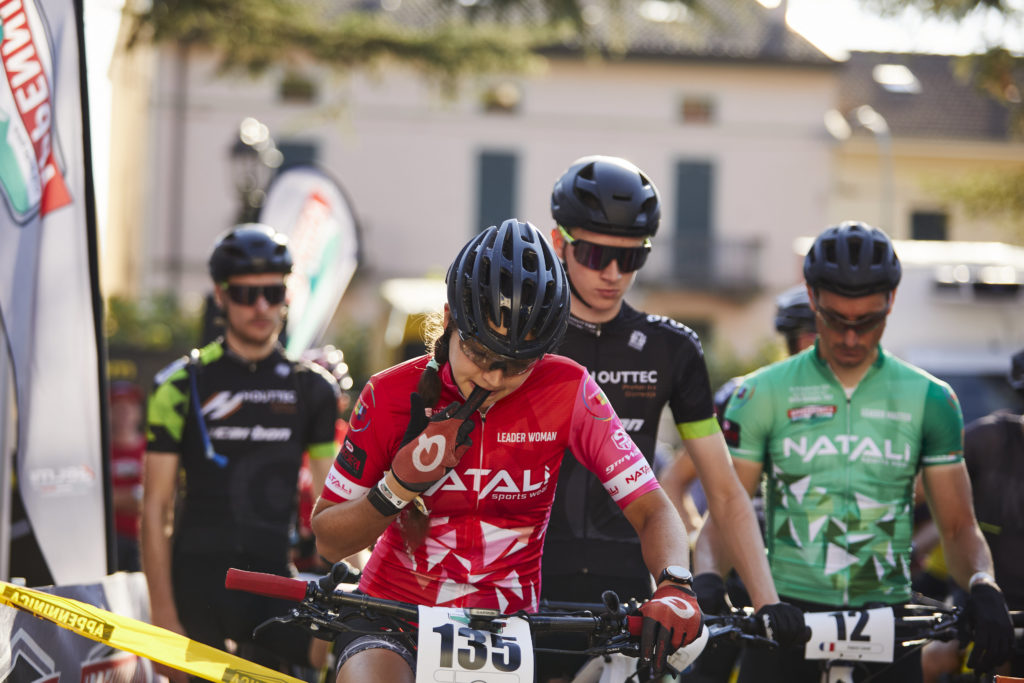 Naima Diesner with leader jersey
